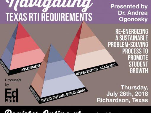 Navigating Texas RtI Requiments