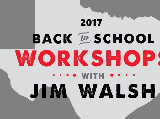 Back to School Workshop with Jim Walsh