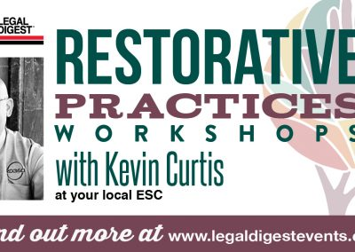 Restorative Practices Workshops with Kevin Curtis