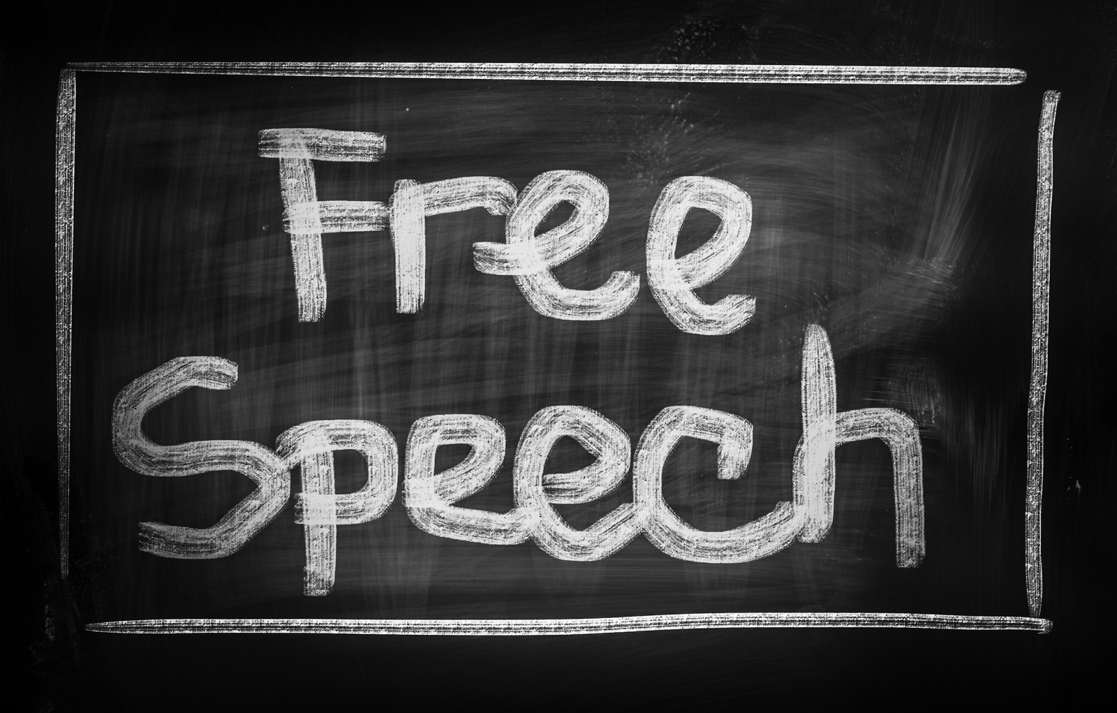 free speech Opinion: champions of free speech should start saying something worth hearing.