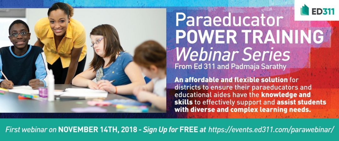 Paraeducator Power Training Webinars